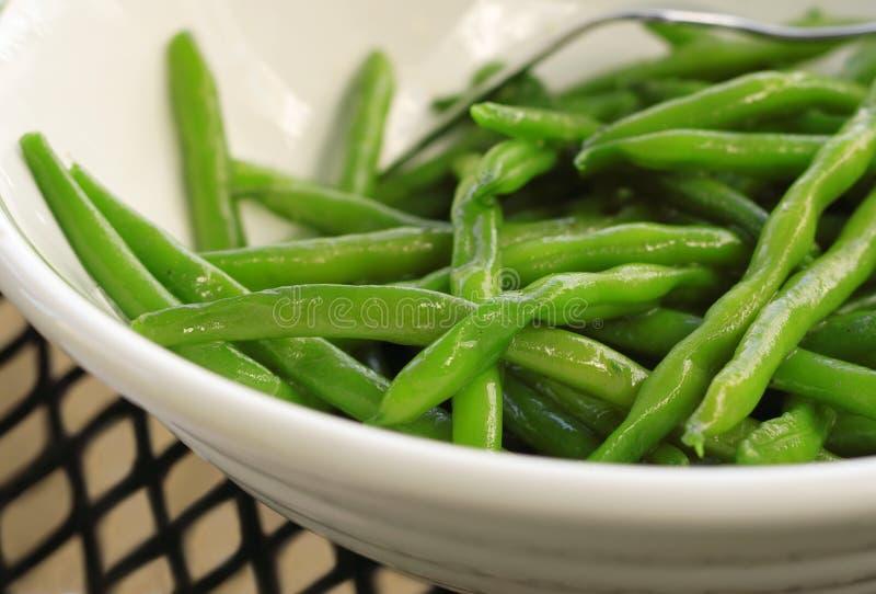 bönor green sauteed royaltyfria foton