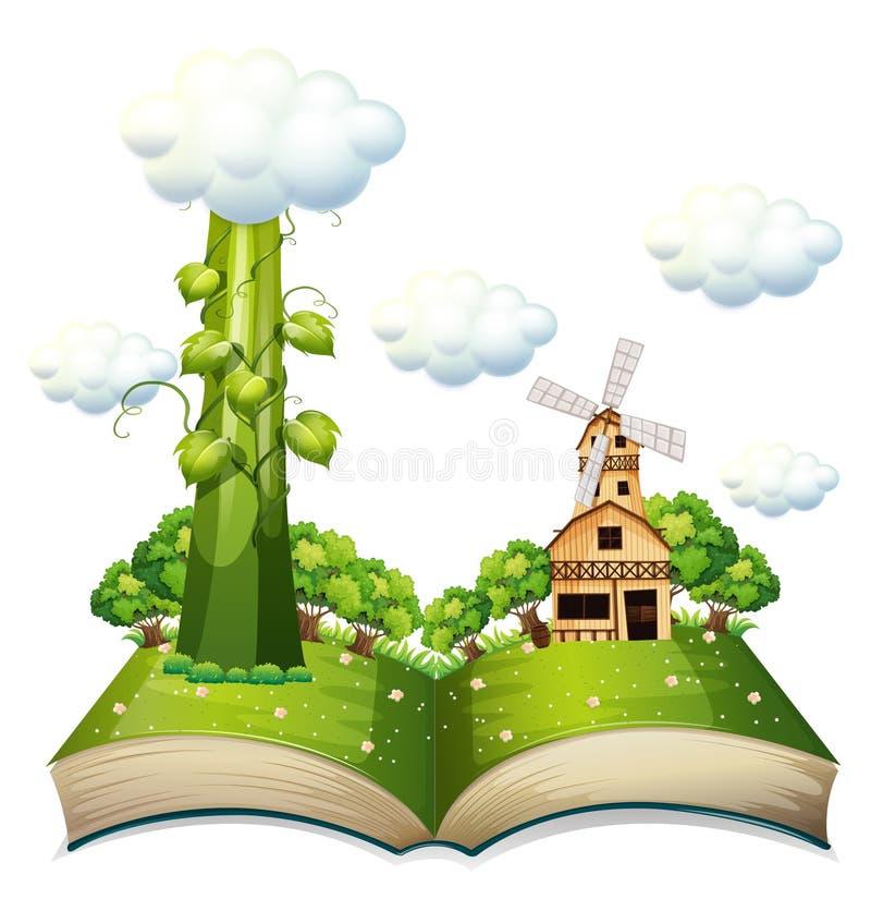 Bönstjälkbok royaltyfri illustrationer