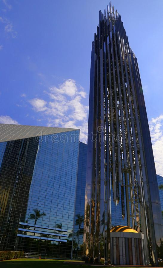 Böntornspiratorn på Crystal Cathedral arkivfoton