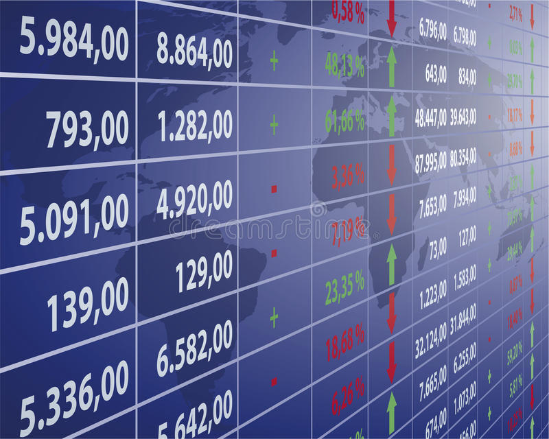 Börse stock abbildung