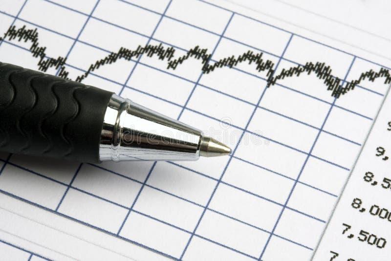 Börse analysieren stockfotografie