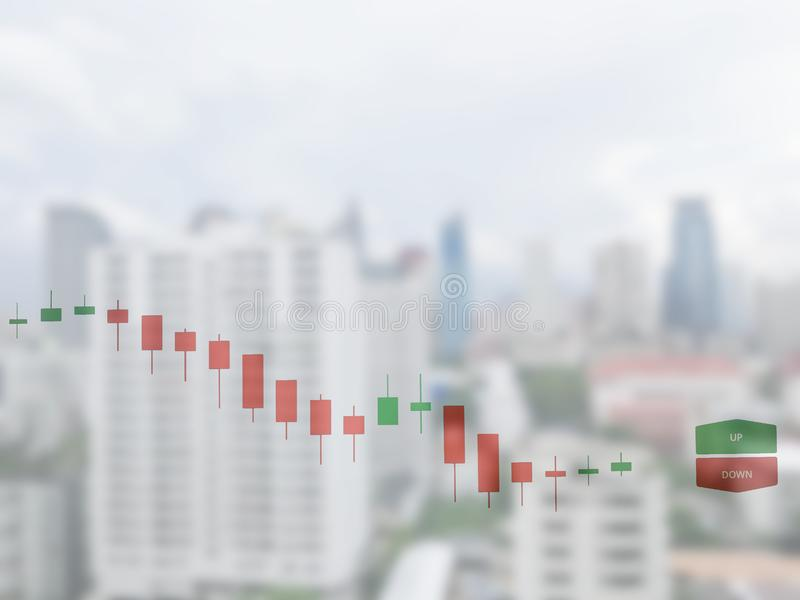 Börse auf der Weichzeichnung, abstrakt im Hintergrund, stockbilder