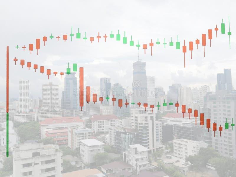 Börse auf der Weichzeichnung, abstrakt im Hintergrund, lizenzfreies stockbild
