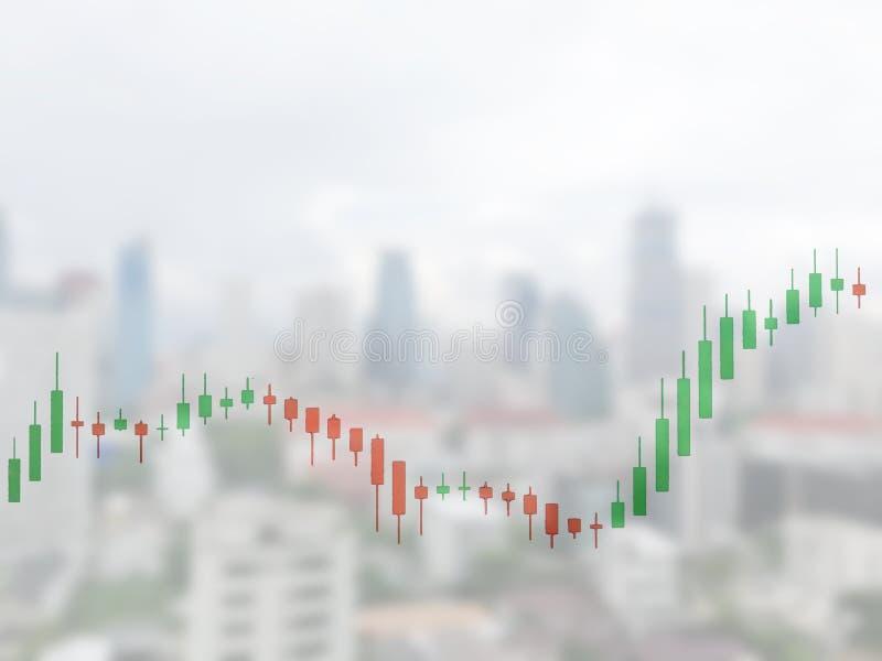Börse auf der Weichzeichnung, abstrakt im Hintergrund, stockbild