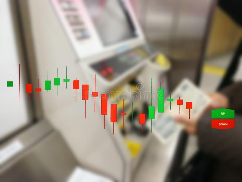 Börse auf der Weichzeichnung, abstrakt im Hintergrund, lizenzfreie stockbilder