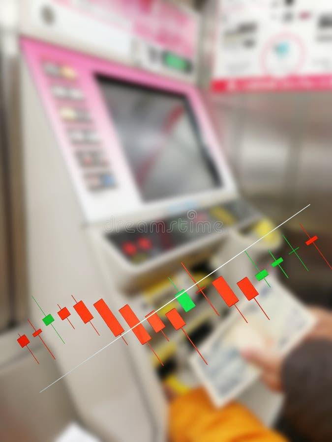 Börse auf der Weichzeichnung, abstrakt im Hintergrund, lizenzfreie stockfotografie