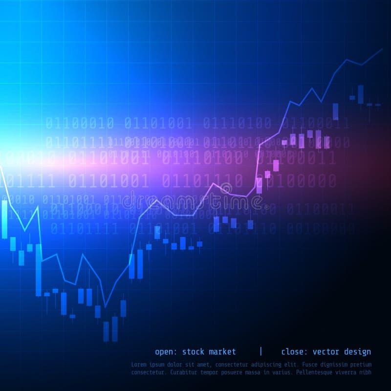 Börse-Handelsdiagramm des Kerzenhalters mit von steigender Tendenz hohem und ist lizenzfreie abbildung