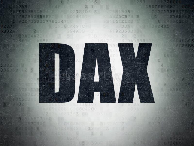 Börse indexiert Konzept: DAX auf digitalen Daten tapezieren Hintergrund vektor abbildung