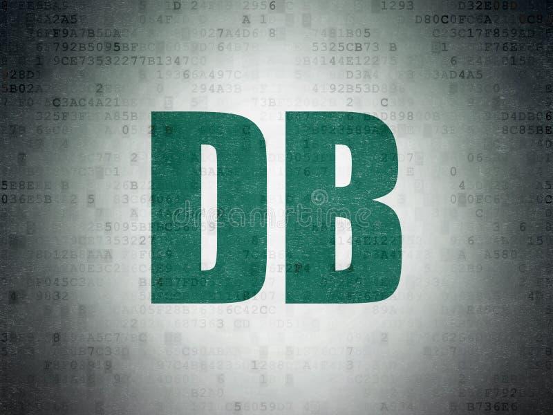Börse indexiert Konzept: DB auf Digital-Daten tapezieren Hintergrund stock abbildung