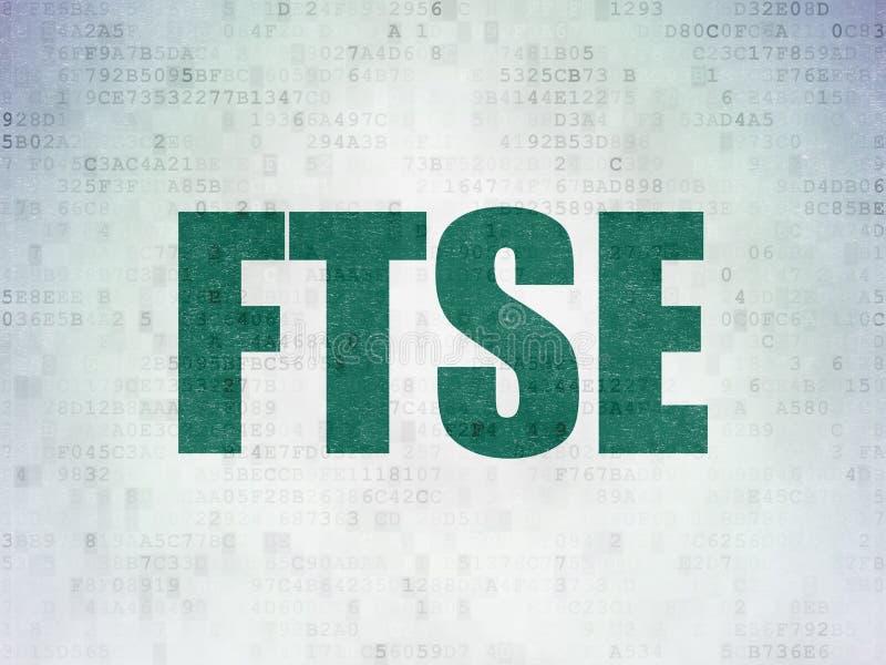 Börse indexiert Konzept: FTSE auf Digital-Daten tapezieren Hintergrund stock abbildung