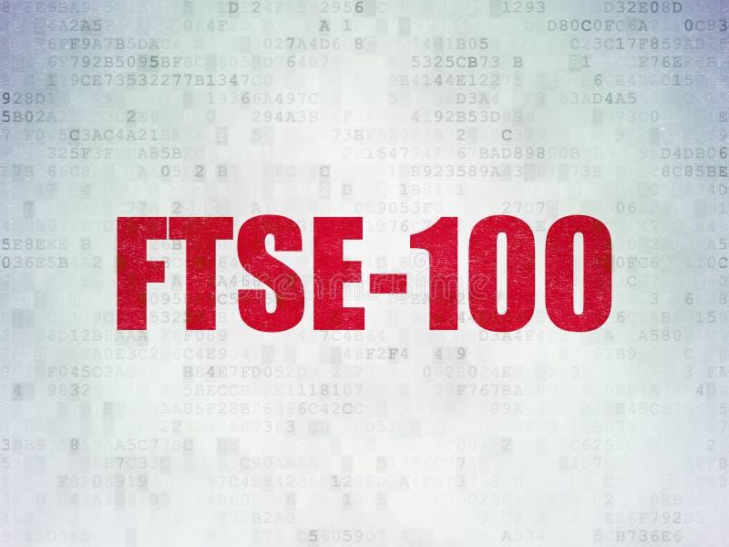 Börse indexiert Konzept: FTSE-100 auf Digital-Daten tapezieren Hintergrund lizenzfreie abbildung
