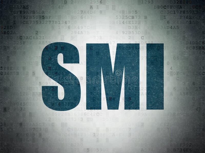 Börse indexiert Konzept: SMI auf Digital-Daten tapezieren Hintergrund stock abbildung