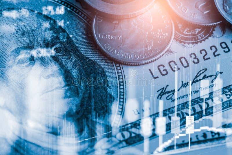 Börse oder Devisenhandelsdiagramm und -kerzenständer entwerfen passendes für Finanzinvestitionskonzept Wirtschaft neigt Hintergru lizenzfreies stockbild