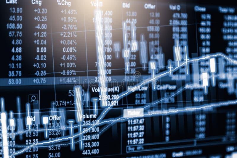 Börse oder Devisenhandelsdiagramm und -kerzenständer entwerfen suitab stockbild