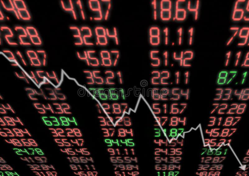 Börse unten lizenzfreie abbildung