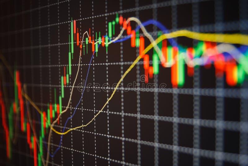 Börse zitiert Diagramm lizenzfreie stockfotos