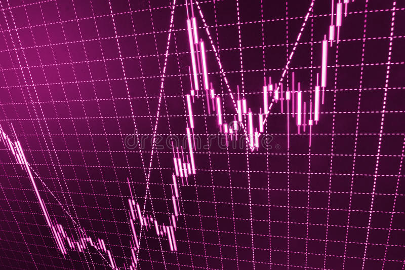 Börse zitiert Diagramm lizenzfreie stockfotografie