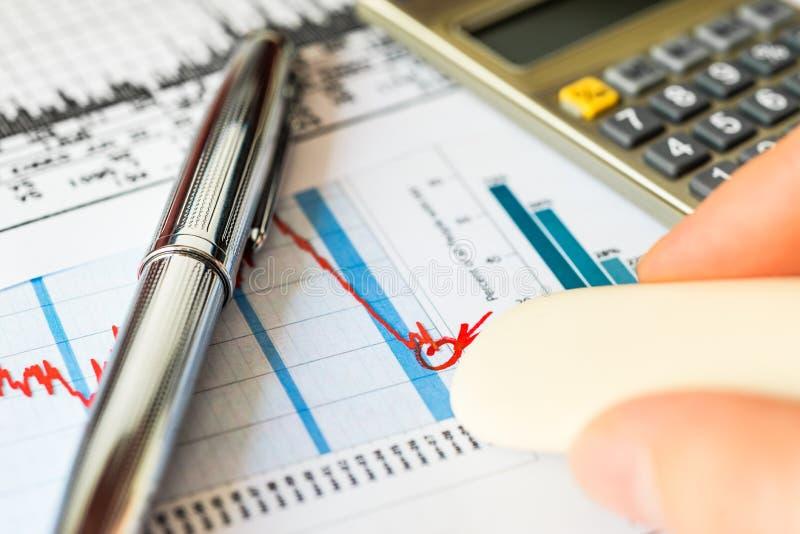 Börseabnahme, die Auslöschungsverluste lizenzfreie stockfotografie
