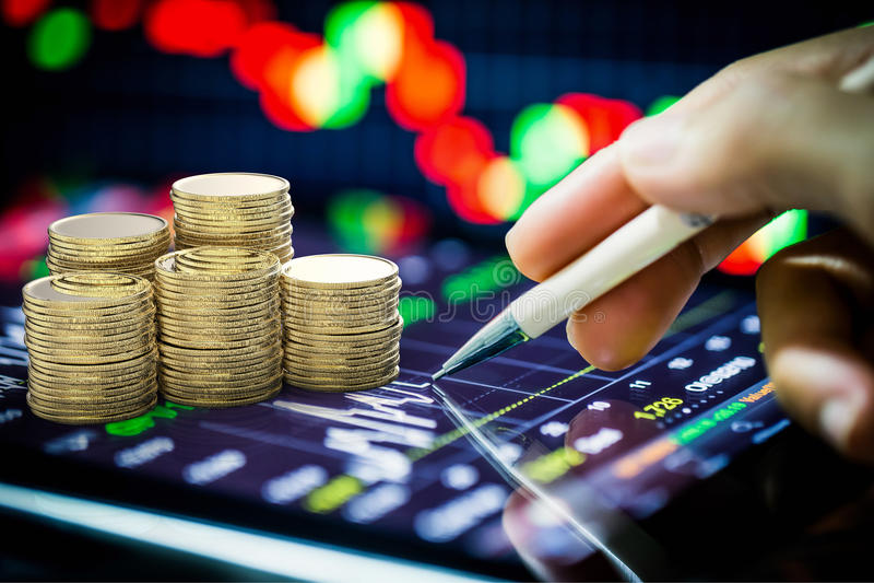 Börseaufpassen lizenzfreies stockfoto
