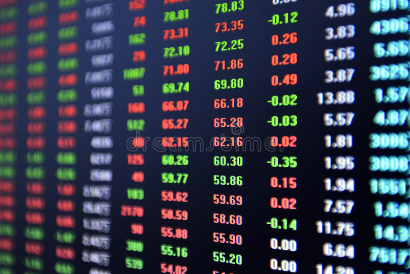 Börsebörsentelegraph lizenzfreie stockfotografie