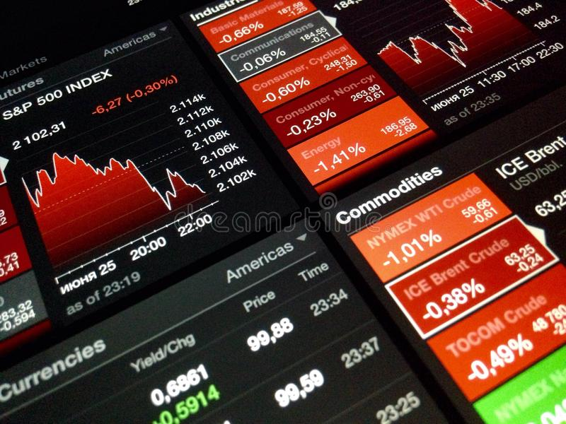Börsediagramm Digital lizenzfreies stockfoto