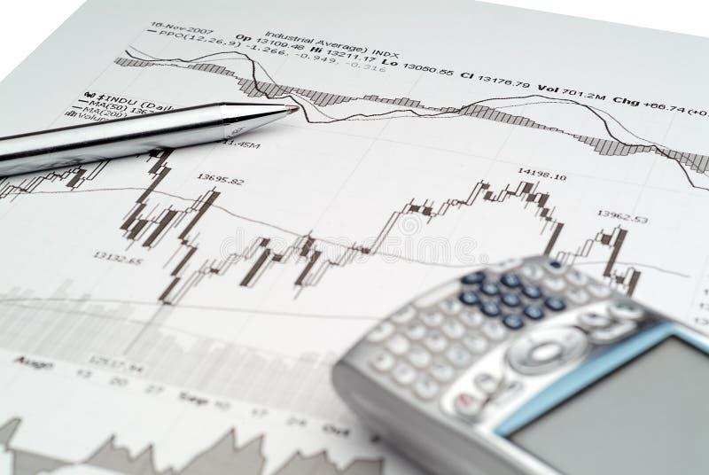 Börseen-Analyse lizenzfreies stockbild