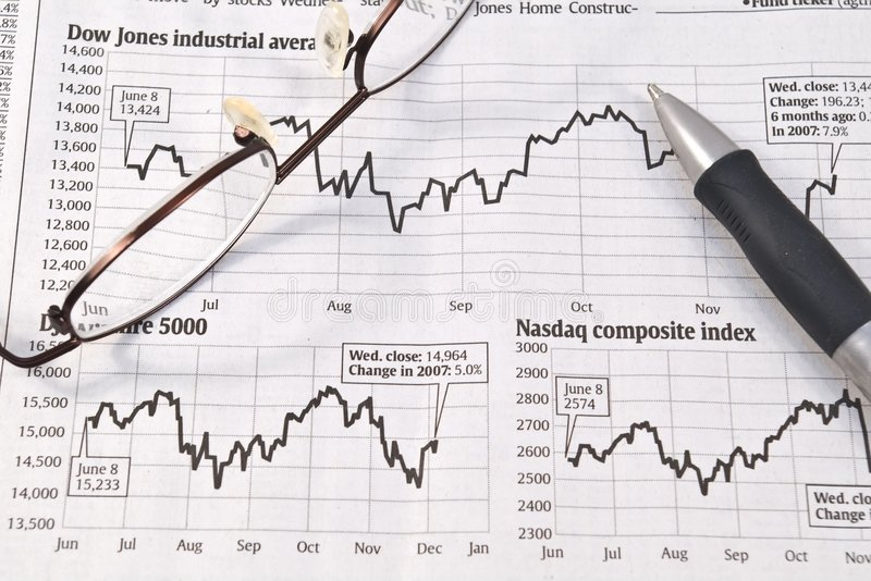 Börseen-Diagramme lizenzfreie stockfotos