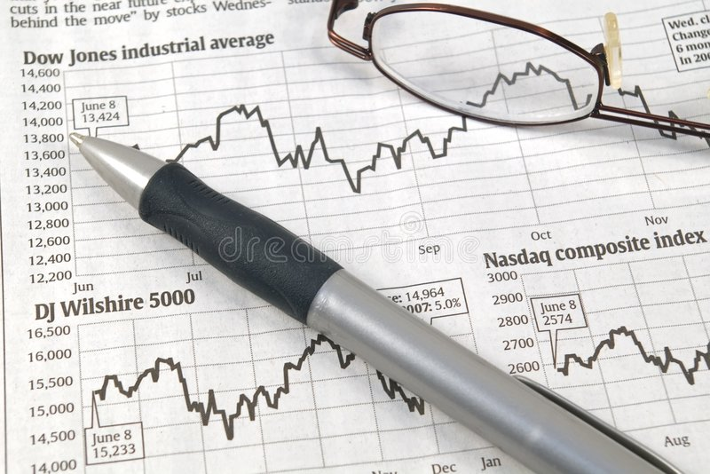 Börseen-Diagramme stockfotografie