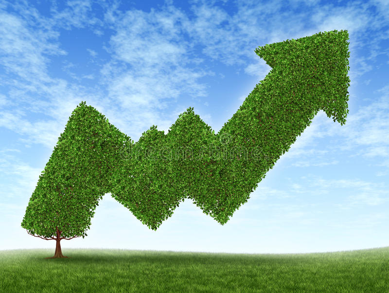 Börseen-Erfolg stock abbildung