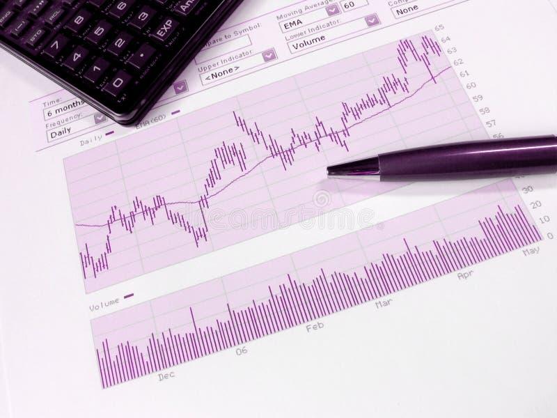 Börseenanalyse lizenzfreie stockbilder