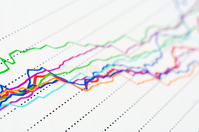 Börseendiagramme. lizenzfreie stockfotos