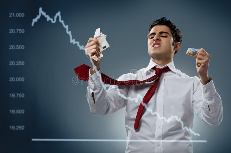 Börseensystemabsturz lizenzfreie stockbilder