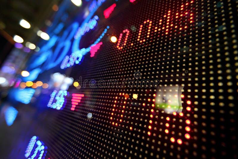 Börsenkursanzeigenzusammenfassung stockfotografie