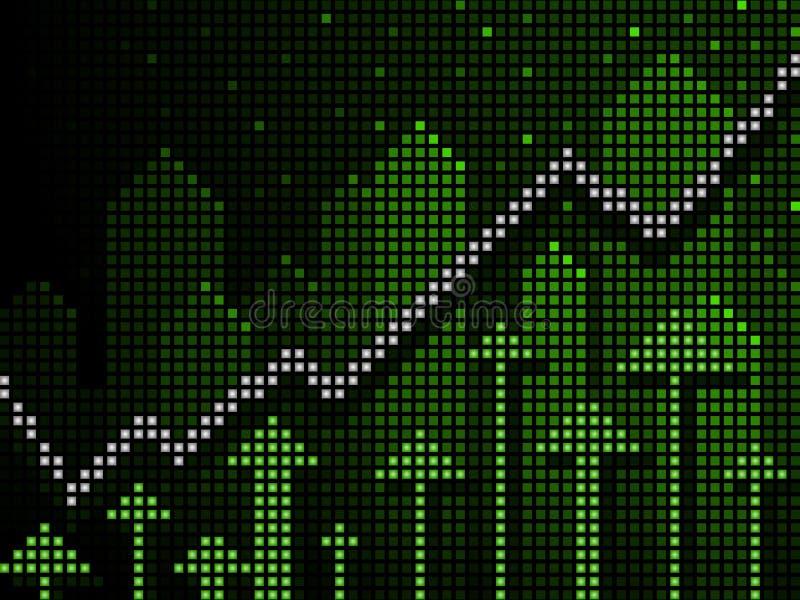 Börsentelegrafgeschäftsdiagramm oben lizenzfreie abbildung