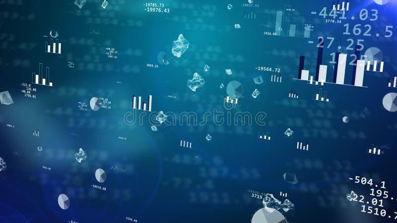 Börsvärden med att blänka histogram stock illustrationer