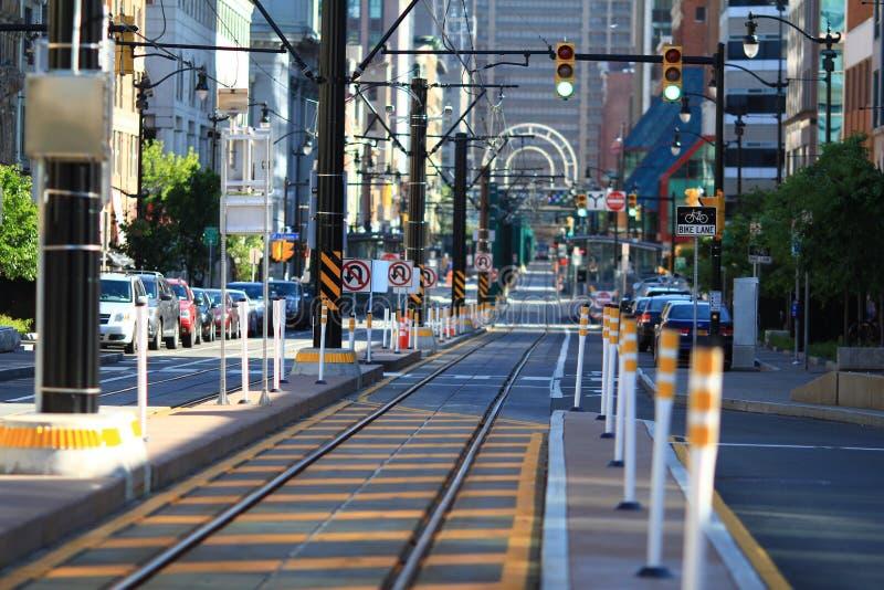 Búfalo New York de Main Street imagem de stock