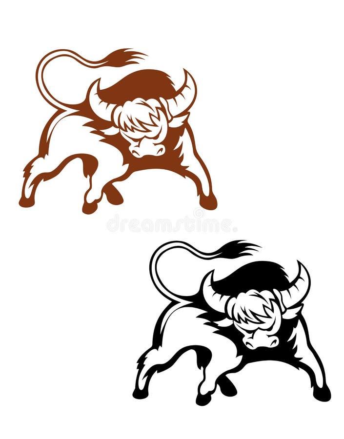 Búfalo salvaje stock de ilustración