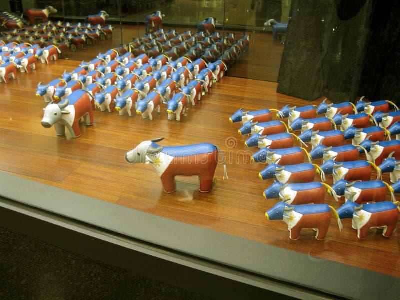 Búfalos-da-índia patrióticos, alameda do cinturão verde 5, Makati, Filipinas imagens de stock