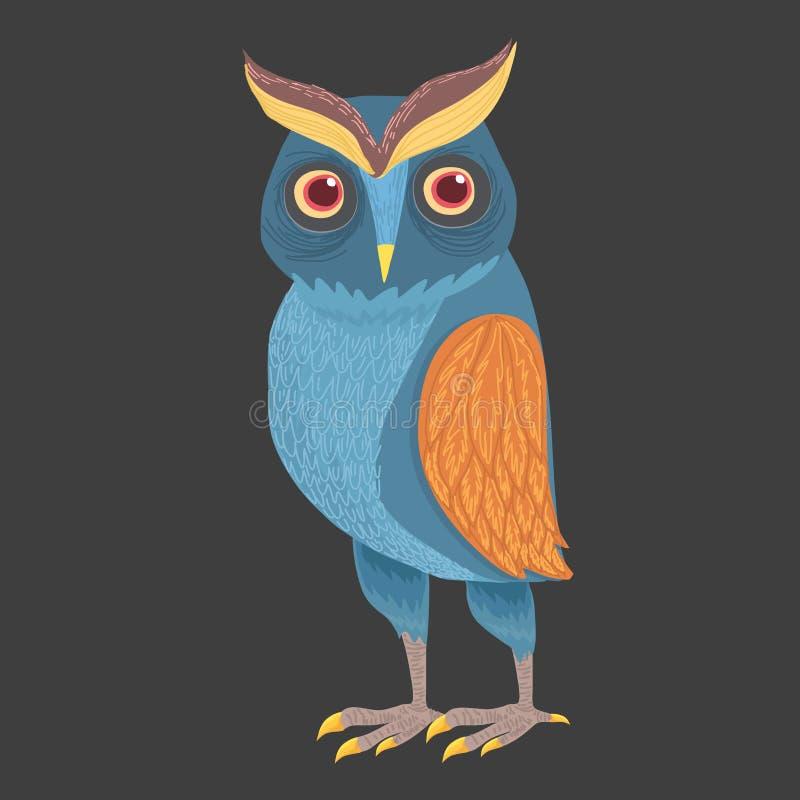 Búho azul hermoso libre illustration