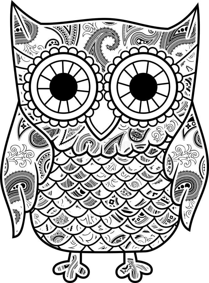 Búho decorativo libre illustration