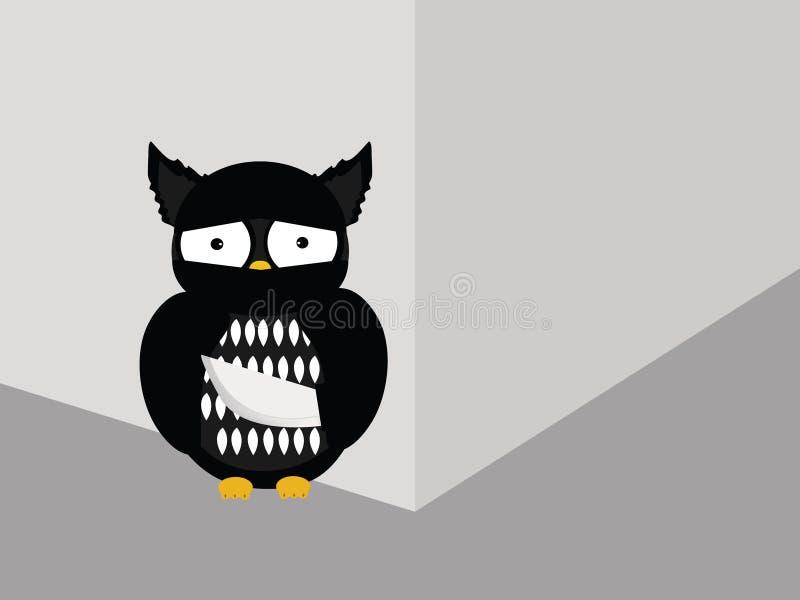 Búho del ladrón stock de ilustración