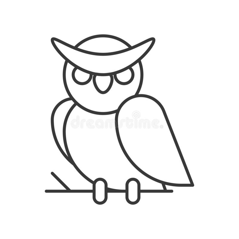 Búho, ejemplo editable del vector del movimiento del carácter de Halloween libre illustration