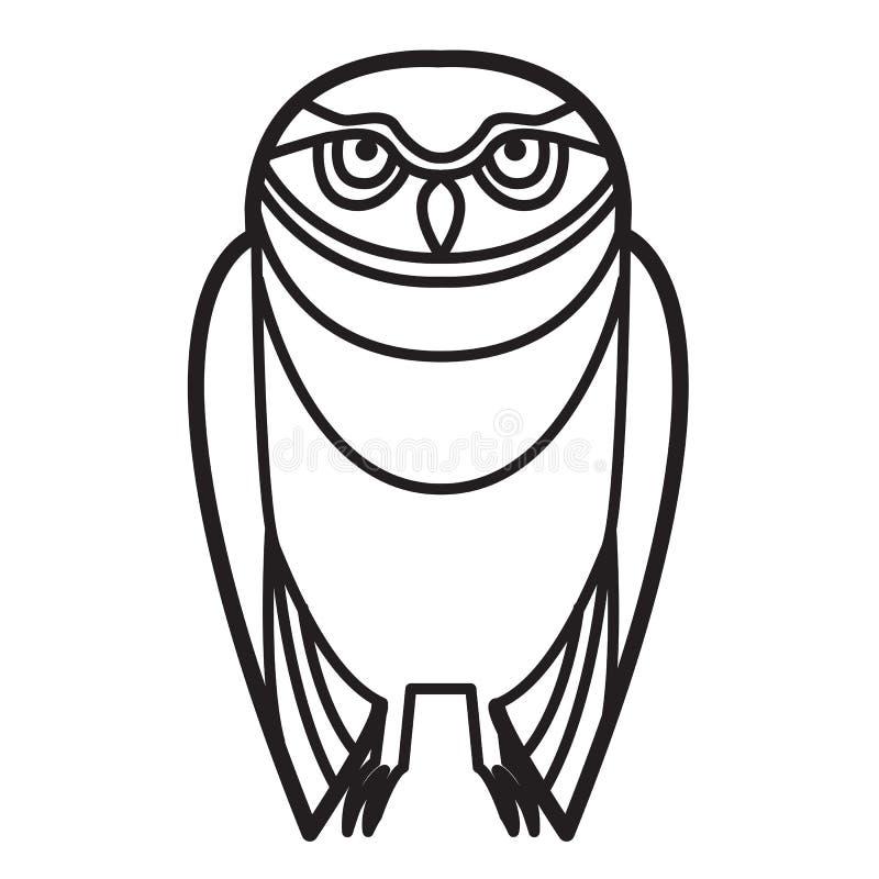 Búho en estilo tribal stock de ilustración