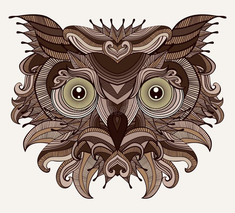 Búho fantástico ilustración del vector