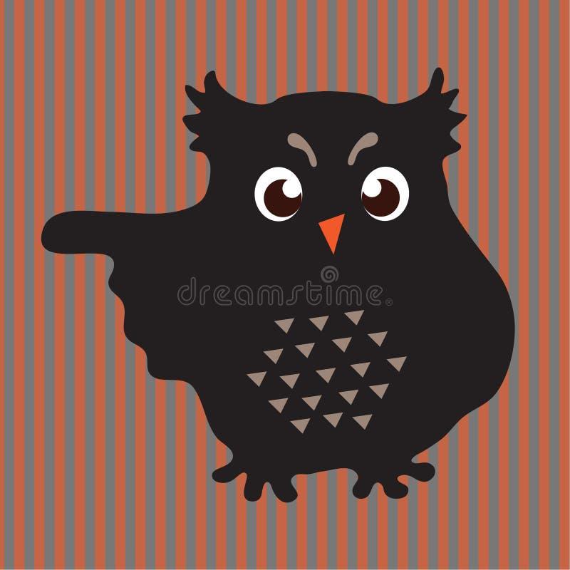 Búho negro libre illustration
