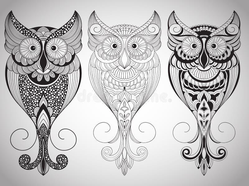 Búhos del vector libre illustration