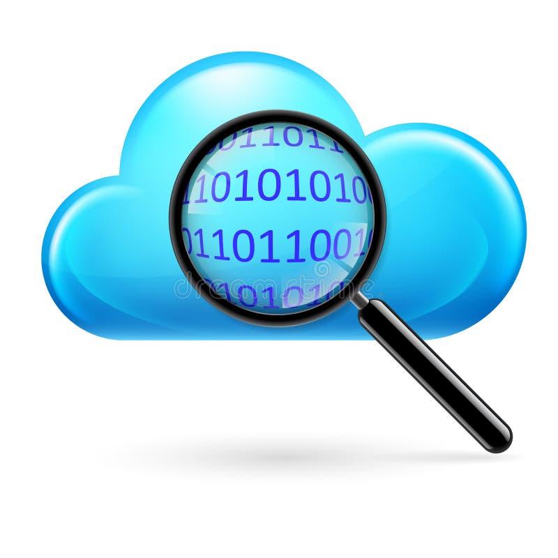 Búsqueda de las nubes ilustración del vector