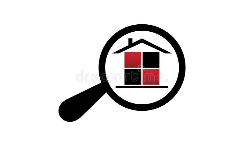 Búsqueda de las propiedades inmobiliarias ilustración del vector