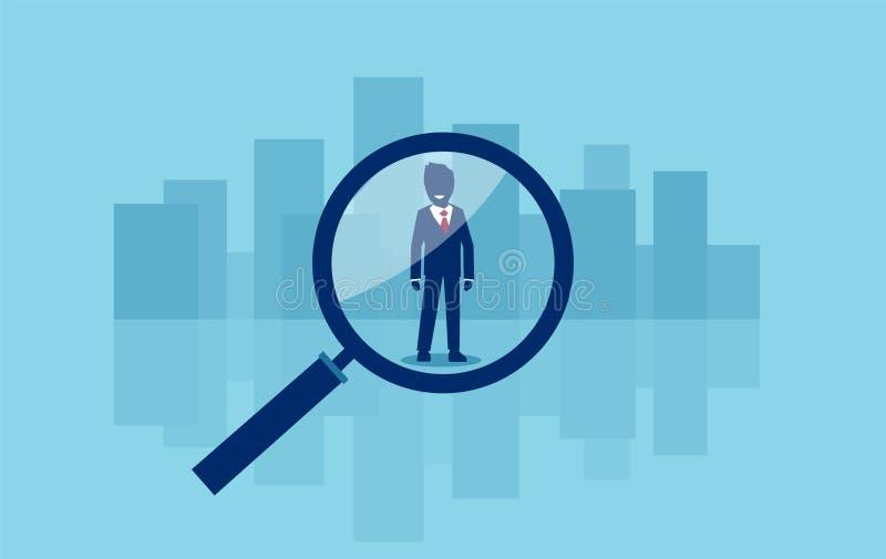 Búsqueda del concepto del vector para un candidato del negocio del trabajo libre illustration