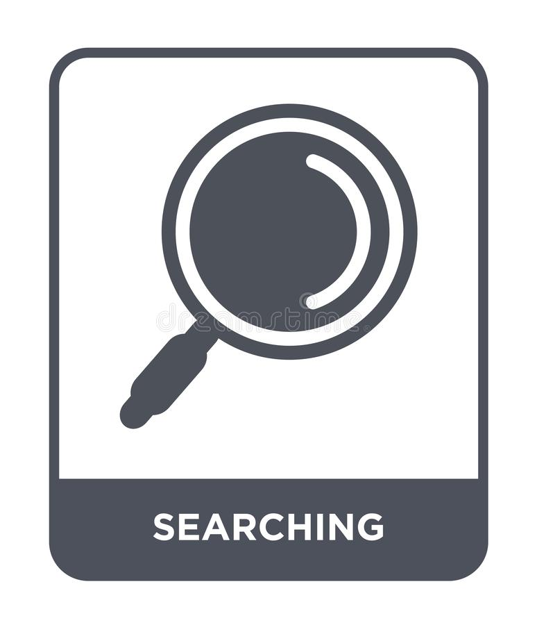 búsqueda del icono en estilo de moda del diseño buscando el icono aislado en el fondo blanco buscando el plano simple y moderno d ilustración del vector